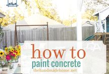 Painted concrete