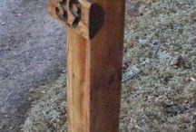 Lámparas con madera