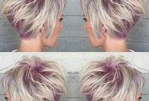 cabello corto con color