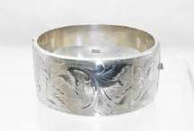 Vintage silver bangles / A treasury of vintage silver bangles from the Victorian era through to the 1970s