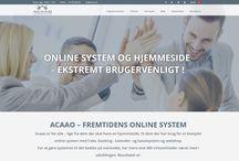 Acaao Danmark / Acaao Danmark, viser alle de virksomheder der har fået lavet en hjemmeside med Acaao - The online solution
