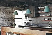 Reklamná tvorba / Ideas for school project... coffee shop, bar interior design