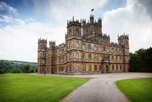 Downton Abbey / The hit TV programme Downton Abbey - filmed at the magnificent Highclere Castle in Hampshire, UK