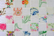 Quilts Vintage Embroidery, Fabric & Hankies / by Aniva Rose
