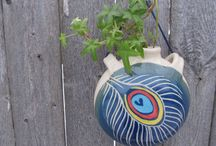 Vases by Jean's Clay Studio / Vases for all occasions.  Celebrate spring with a wall vase to bring a few precious cuttings into the house. A set of bottle vases for home decor or traditional shaped vases for bouquets. / by Jean Wells - Jean's Clay Studio