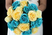 casamento azul Tiffany e amarelo