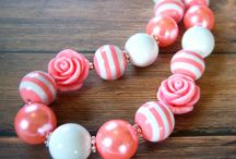 Bubble gum necklaces / by Jade del Rosario
