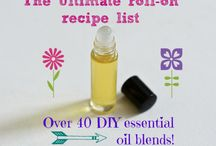 Essential oil blends for roll on