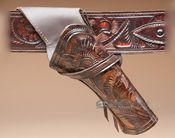 Western Cros Tooled Leather Holster