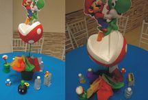 ideas fiesta de Mario Bross / Centro de mesa y detalles para una fiesta infantil inspirada en los personajes de Mario Bross