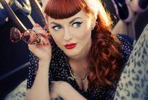 Make up, vintage look.