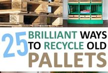 Recycle pallets / Love to work with recycled materials? Pallets are often free, a great opportunity to learn/improve woodwork skills whilst recycling.