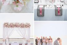 Blush pink grey weddings