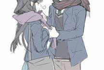Anime girls and boys