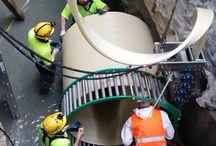 Tubería PVC realizada in situ / Sistema NO-DIG espiral PVC para fabricación de tubería estructural hasta DN 2.500 mm