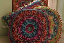 gypsy-bohemian pillows- curtains&mirrors