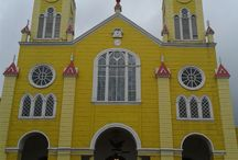 Wooden Churches of Chiloé, Chile / UNESCO World Heritage Site wooden churches in Chiloé, Chile