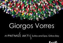 Solo show by Giorgos Vorres in Patmos Aktis Suites & Spa / Solo exhibition of Giorgos Vorres: Opening: 22 July 19:30.  Duration:  22/7 – 7/8 2016.  Location: Patmos Aktis Suites & Spa, Grikos, Patmos