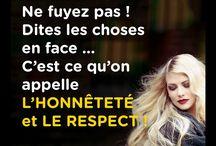 lhonnete et le respect Ne fuyez pas !
