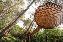 Une nuit inoubliable en Lov'Nid / Découvrez nos lov'nids, nos cabanes rondes suspendues dans les arbres et idéale pour un séjour romantique ! Merci à @NidPerché pour la construction du nid !