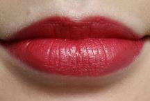 Lip Swatches / Swatches of lipstick, lip gloss, lip balms, lip stains etc.