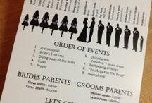 Wedding programs / by Renee Whitney