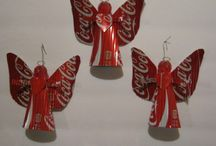 Recycled Xmas decorations