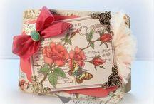 Cards - Rose postcard stamp