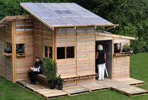 cabanes et maisons en bois