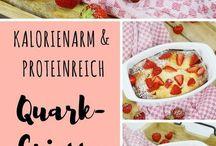 Quark Grieß auflauf mit Erdbeere
