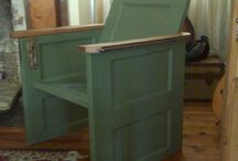 Benches out of old Headboards