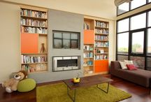 Fireplaces & Built-Ins / Fireplace design and innovative built-ins