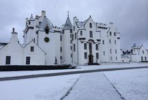 Blair Castle / Blair Castle stands in grounds near the village of Blair Atholl in Highland Perthshire.  It is the ancestral home of the Clan Murray, and was historically the seat of their chief, the Duke of Atholl.