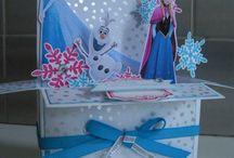 Cartes pop-up la reine des neige