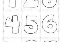Flashcards / Flashcards educativas para niños. Juegos de memoria, aprender los números... etc.