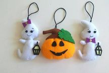 Halloween ornaments / Halloween ornament. Fall home decor. Halloween baby toy. Trick or treat. felt craft.