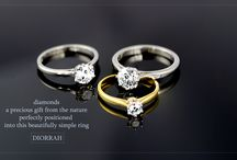 Diorrah Bridal Collection / diamonds set #Diorrah engagement rings created entirely by hand to preserve the uniqueness of this precious gift of nature