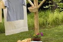 Wooden washing line