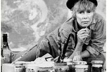 """Joni Mitchell's Art / """"I'm a painter first, and a musician second..."""" Joni Mitchell quote. / by Joan Arc"""