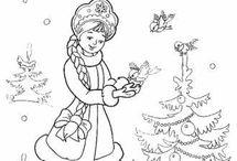 Новогодняя раскраска - 4
