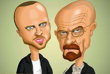 Caricaturas protagonistas de series / Recopilación de tus personajes favoritos de las series que más te gustan