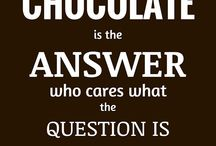 Chocolate Quotes & Facts / Cool, funny, interesting facts or quotes about chocolate.