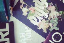 Typocollage / El collage, la tipografia y un puñado de hojas secas.