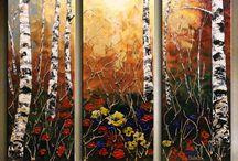 trees birch etc to paint