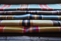 FABRIC: Mediterranean Stripes / A wonderful, bright collection of 5 striking stripes.  100% cotton and 137cm wide / by W h a t n o t .