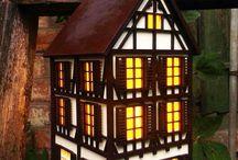 домики светильники