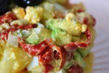 ensalada de patata aguacate y salmon