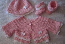 Layette / Mes créations de layettes au crochet : Patrons et tenues disponibles dans ma boutique