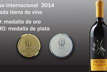"""Concurso internacional """"Ensenada tierra del vino"""" 2014 / Con un enorme gusto, les compartimos que nuestros tinto, Fauno y Minotauro, obtuvieron medalla de oro y plata repectivamente"""