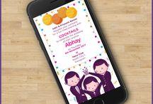 Cute Couple Wedding Invitations / Creative Indian Wedding Invitations